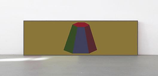 <b>Sol LeWitt</b><br> Flat Top Pyramid with Colours Superimposed, 1988<br> Siebdruck in 20 und 23 Farben auf Arches Cover, 16/30<br> signiert und nummeriert<br> 76 x 241 cm