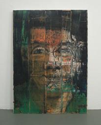 <b>Aaron Fink</b><br> Selbstportrait, 1986<br> Öl auf Leinwand<br> signiert und datiert<br> 127 x 92 cm