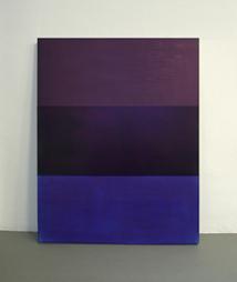 <b>Rolf Rose</b><br> Ohne Titel, 1999<br> Acryl und Cyan-Pigment auf Aluminium<br> signiert und datiert<br> 150 cm x 120 cm