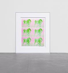<b>Bruce Nauman</b><br> Ohne Titel, 1969<br> Siebdruck auf Kromekote Papier<br> signiert<br> 60,5 x 49,5 cm<br> Hrsg.: Leo Castelli, New York
