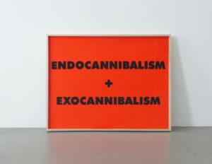 <strong>Sterling Ruby</strong> <br>  Endocannibalism + Exocannibalism, 2016<br> Tintenstrahldruck auf leichtem Karton, 26/30<br> signiert und nummeriert<br> 52,7 x 67,6 cm<br> Hrsg.: S.R. Studio LA. CA