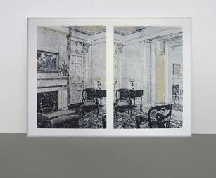 <b>Richard Artschwager</b><br> Interior, 1972<br> Siebdruck auf Velin, 65/68<br> signiert, datiert und nummeriert<br> 71,8 x 104,2 cm<br> Hrsg.: Brooke Alexander Inc., New York