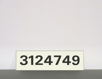 <b>Jonathan Borofsky</b><br> 3124749, 1991<br> aus: 31 unique works<br> Lithographie auf Karton<br> signiert, datiert<br> 53,5 x 178 cm