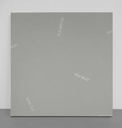 <b>Robert Barry</b><br> Ohne Titel, 1988,<br> Acryl auf Leinwand,<br> Monogram und datiert,<br> 106 x 106 cm